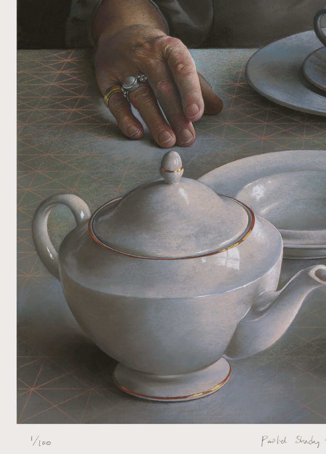 Pastel-Study-for-An-Angel-at-my-Table-signed-limited-edition-print-detail 2-Miriam-Escofet