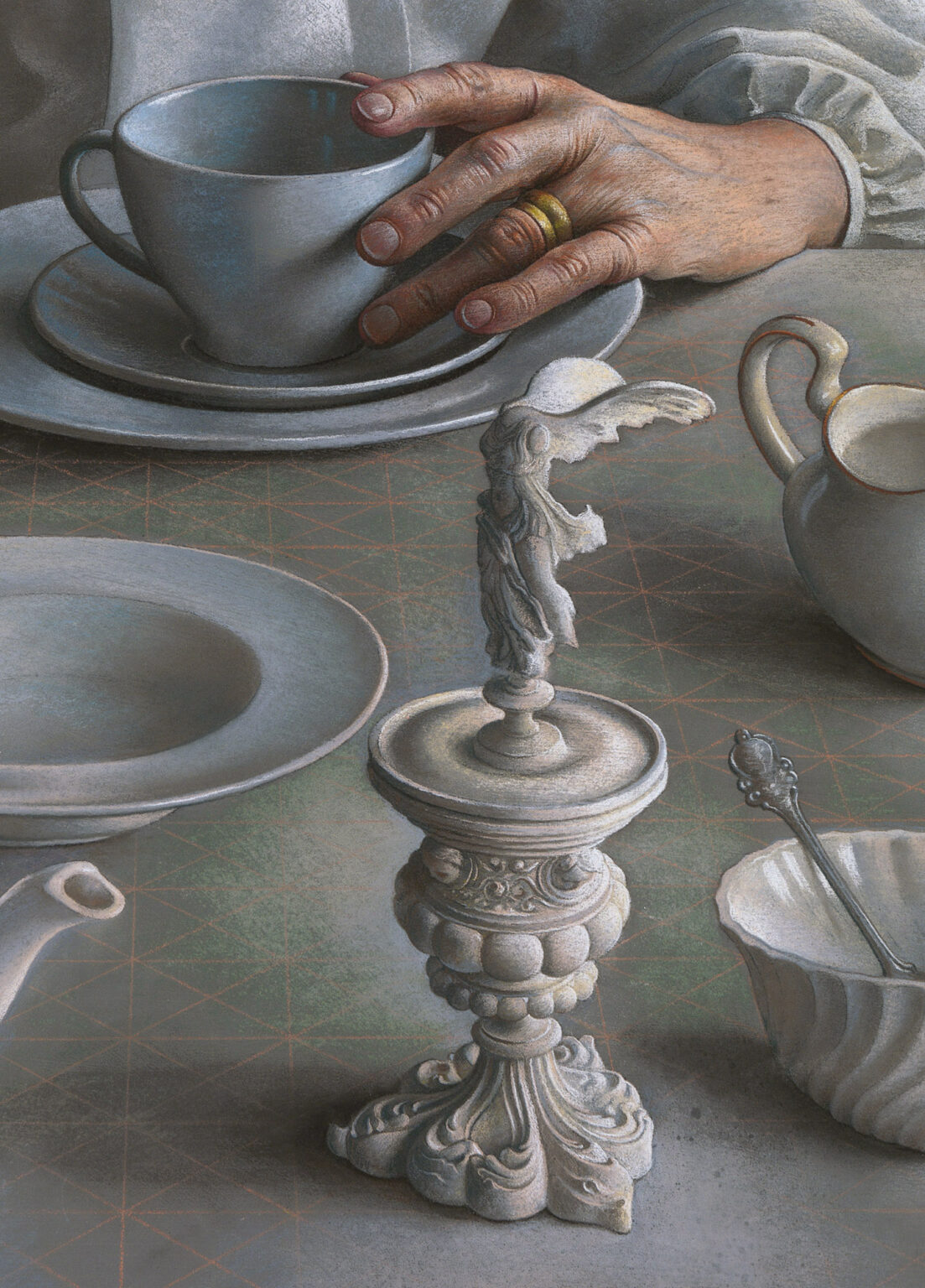 Pastel-Study-for-An-Angel-at-my-Table-signed-limited-edition-print-detail 3-Miriam-Escofet