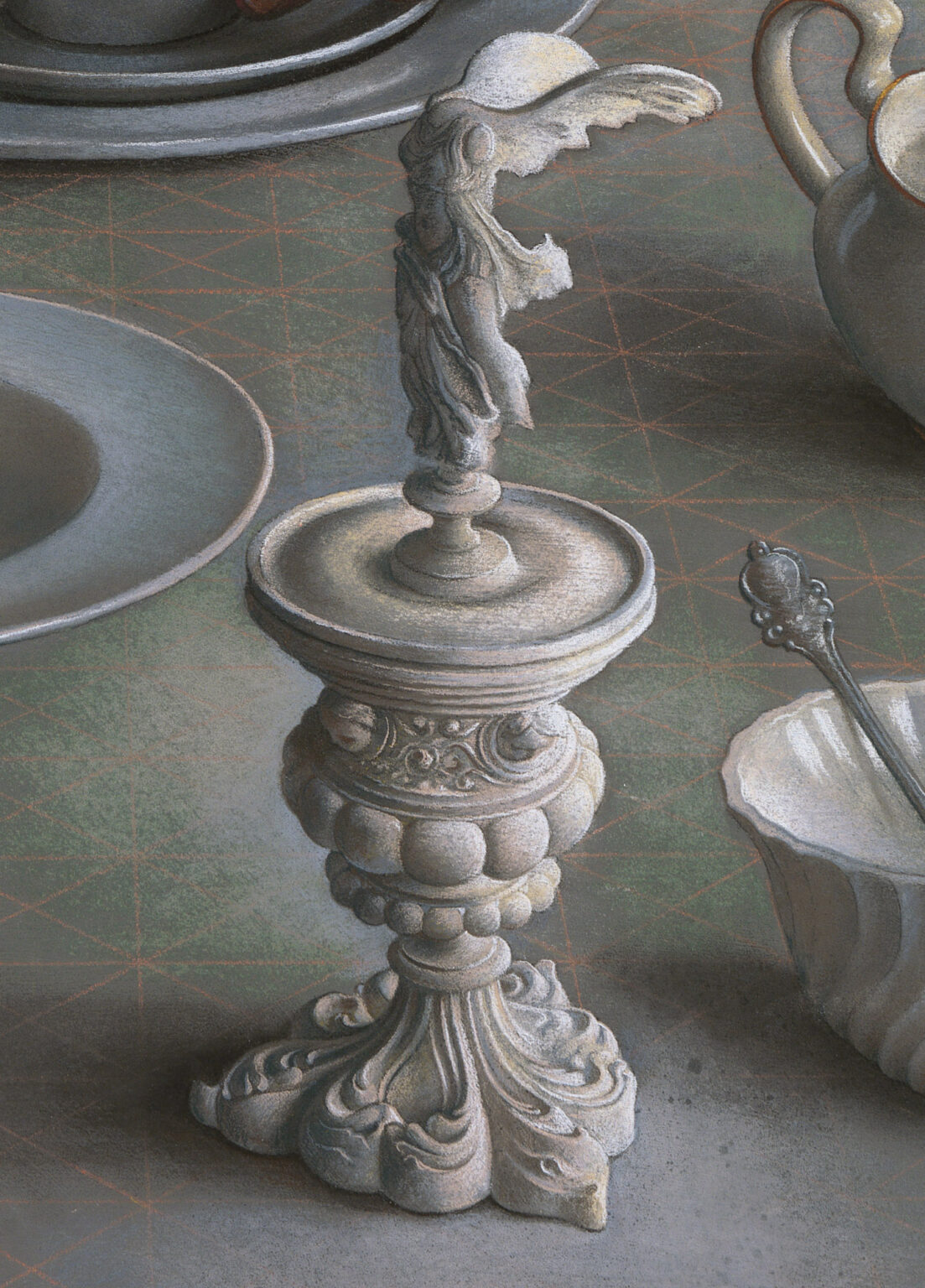Pastel-Study-for-An-Angel-at-my-Table-signed-limited-edition-print-detail 4-Miriam-Escofet copy